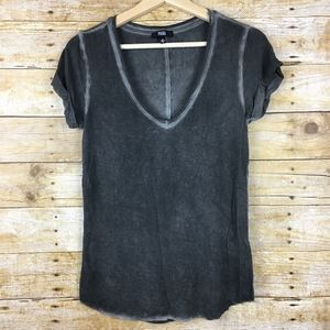 Paige Womens Black V Neck T Shirt Sz Small